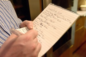 chef notes
