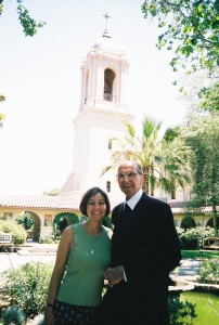 Carla De Luca Worfolk with Brother Timothy, June 2003