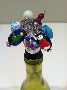 holiday wine stopper