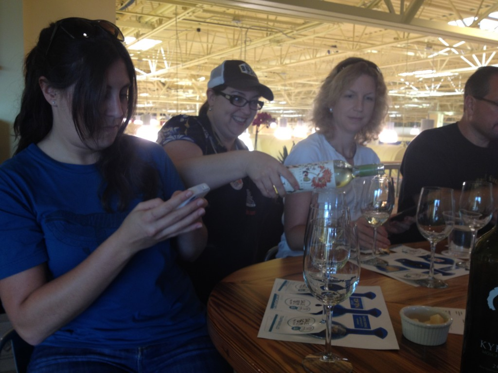 Tweeting at a #WFMwine tasting