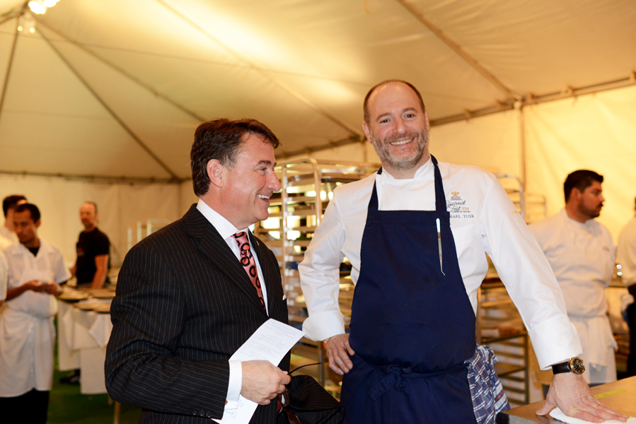 David Fink with Chef Michael Tusk